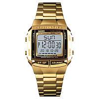 Skmei 1381 illuminator золотые мужские спортивные часы, фото 1