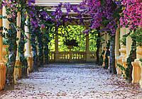 Фотообои готовые Арка с цветами размер 184 х 254 см