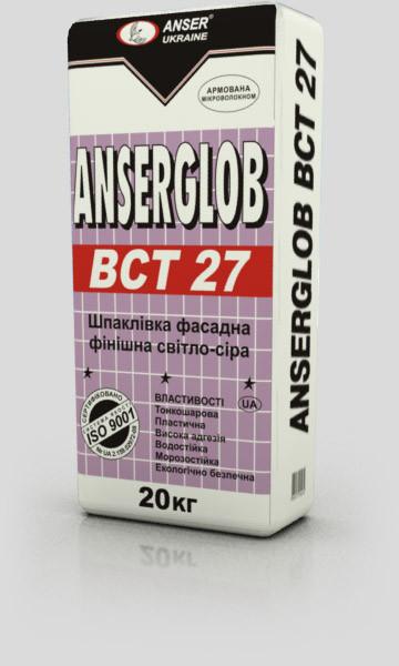 Шпаклевка универсальная финишная ANSERGLOB «ВСТ-25» безпесчаная (светло-серая)  (25 кг)