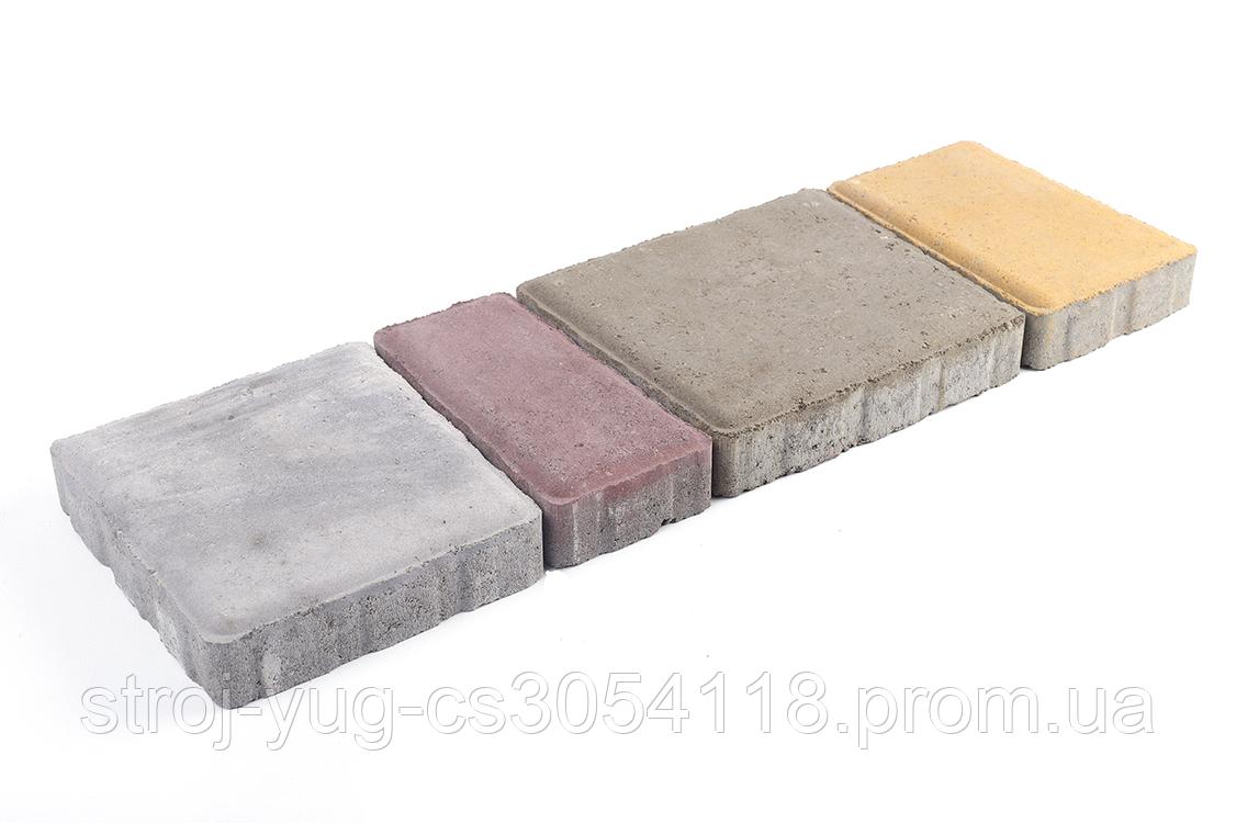 Тротуарная плитка «Австрийская брусчатка», белый, 40 мм, заводское качество