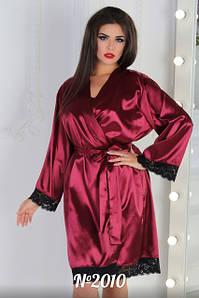Халат и ночная рубашка (комплект), пеньюары женские больших размеров