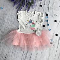 Летнее платье на девочку Breeze ед. Размер 74 см, 80 см, 86 см, 92 см, 98 см