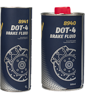 Гальмівна рідина Mannol Brake Fluid DOT-4 0.5 L