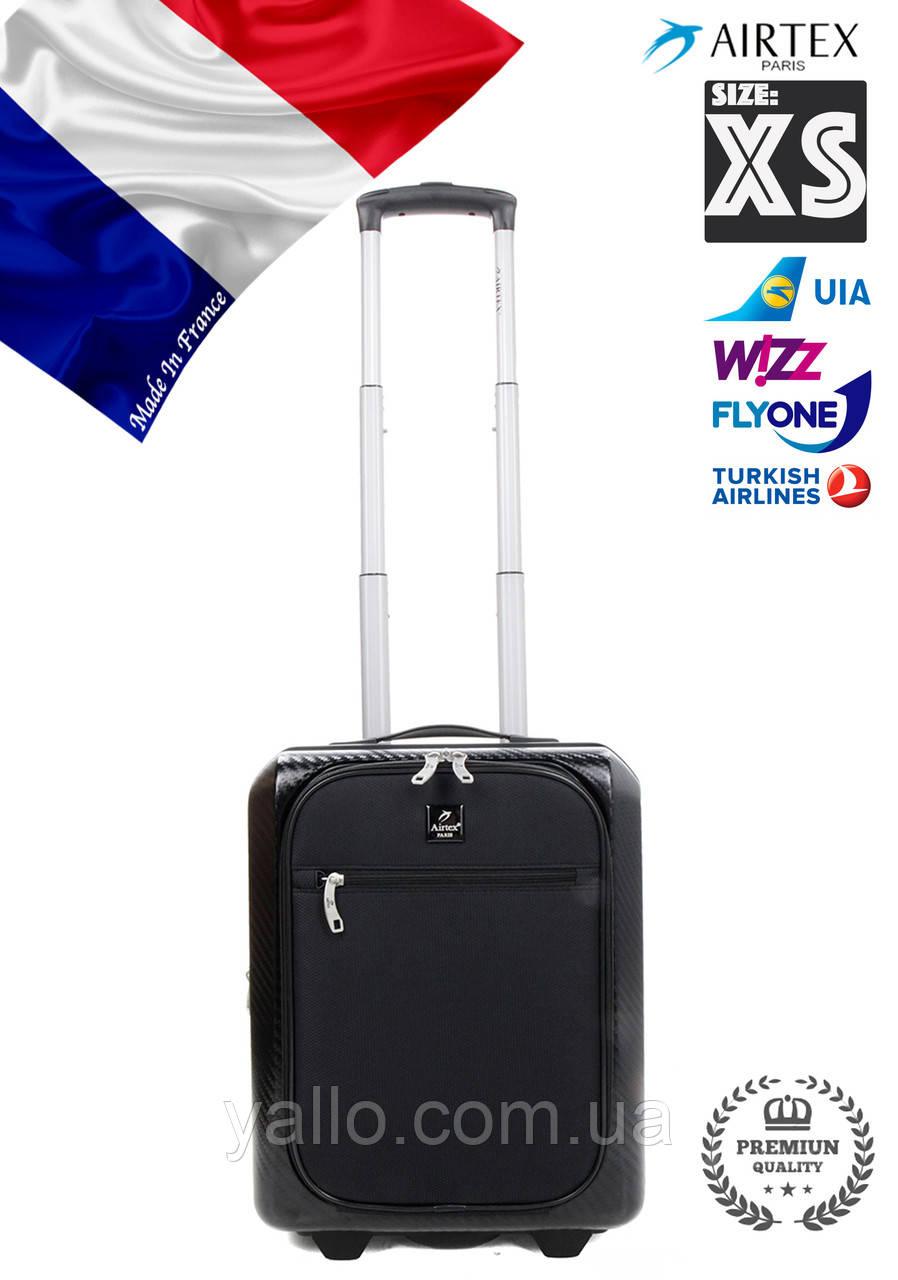 """Валіза Французький ударостійкий Малий на 2-х колесах """"AIRTEX NEW """"Low-cost 7354/20R S BLACK"""