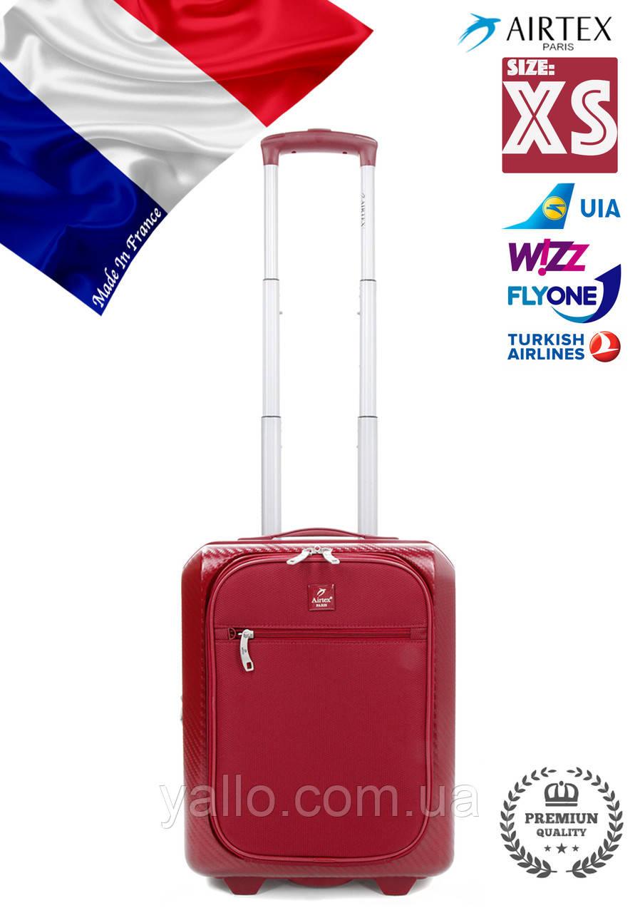 "Чемодан Французский ударостойкий Малый на 2-ых колесах ""AIRTEX NEW "" Low-cost7354/20R S RED"
