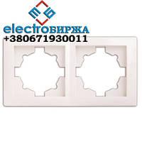 Рамка DELUX WEGA 9302 подвійна біла
