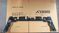 Накладка передней панели, верхняя, пластик, панель замка капота, Geely EX7[2.4,X7], 1018010349, Aftermarket