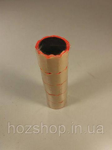 Ценник маленький оранжевая  (р15*25мм)  3м (5 шт)