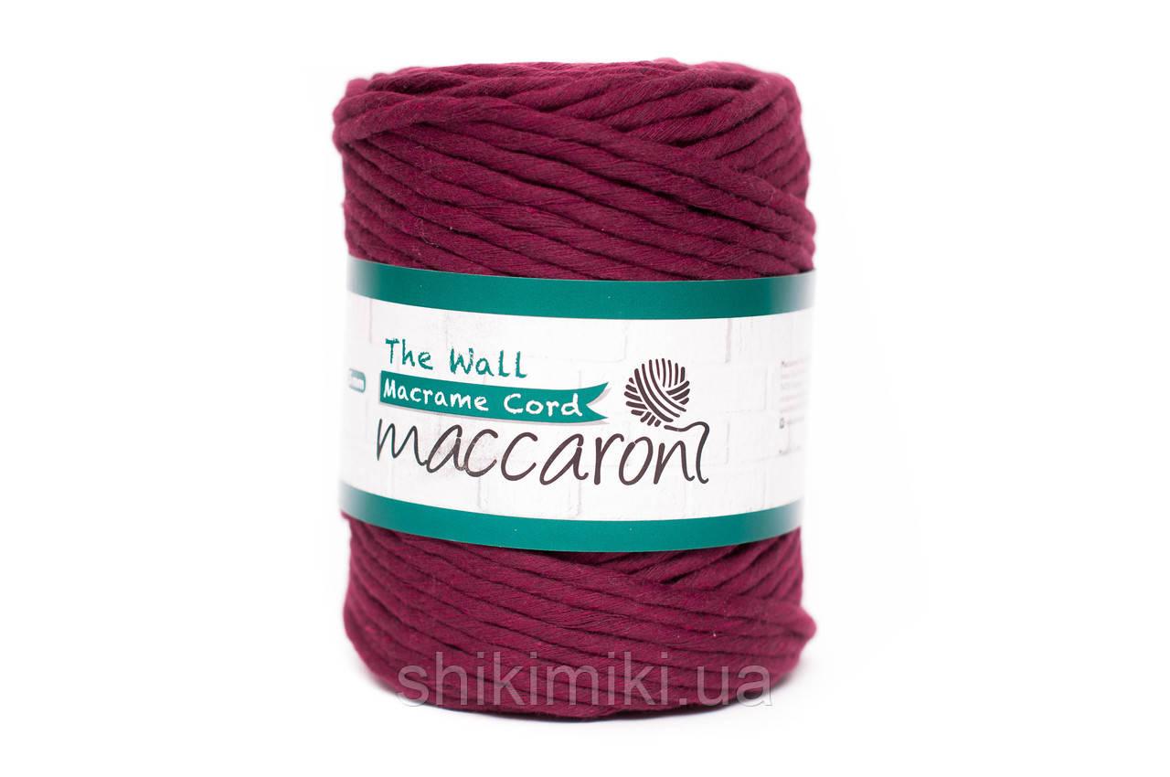 Эко шнур Macrame Cord 5 mm, цвет Винный