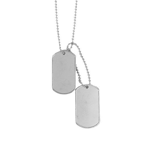 Жетоны военные США с резинками Mil Tec Sturm