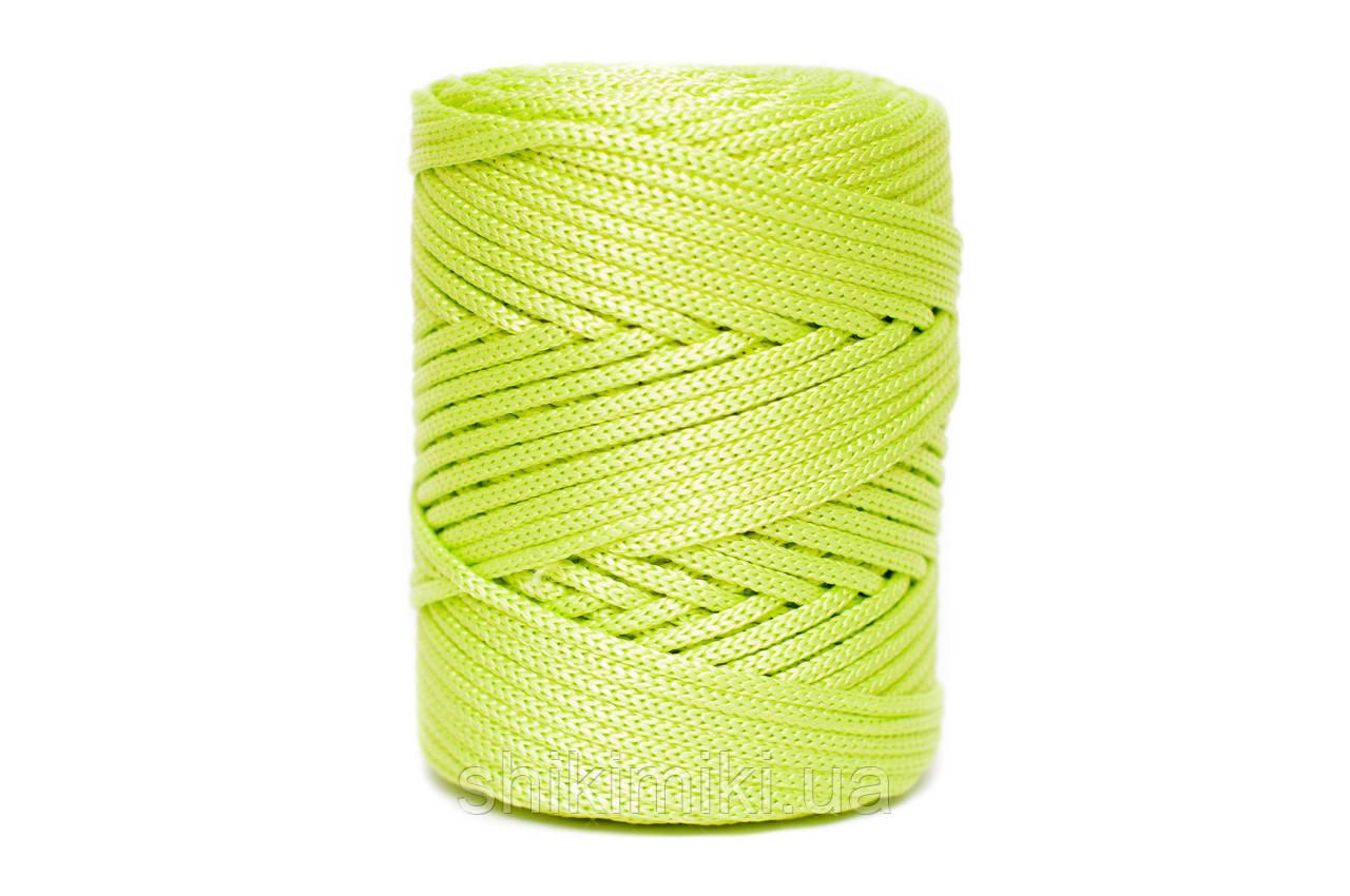 Трикотажный полипропиленовый шнур PP Cord 5 mm, цвет Лайм