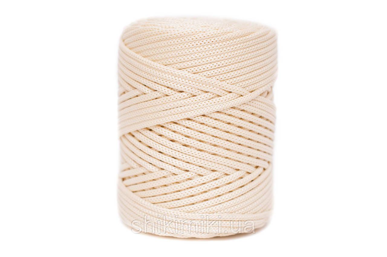 Трикотажный полипропиленовый шнур PP Cord 5 mm, цвет Кремовый