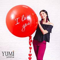 Воздушный шар-гигант с признанием в любви, фото 3