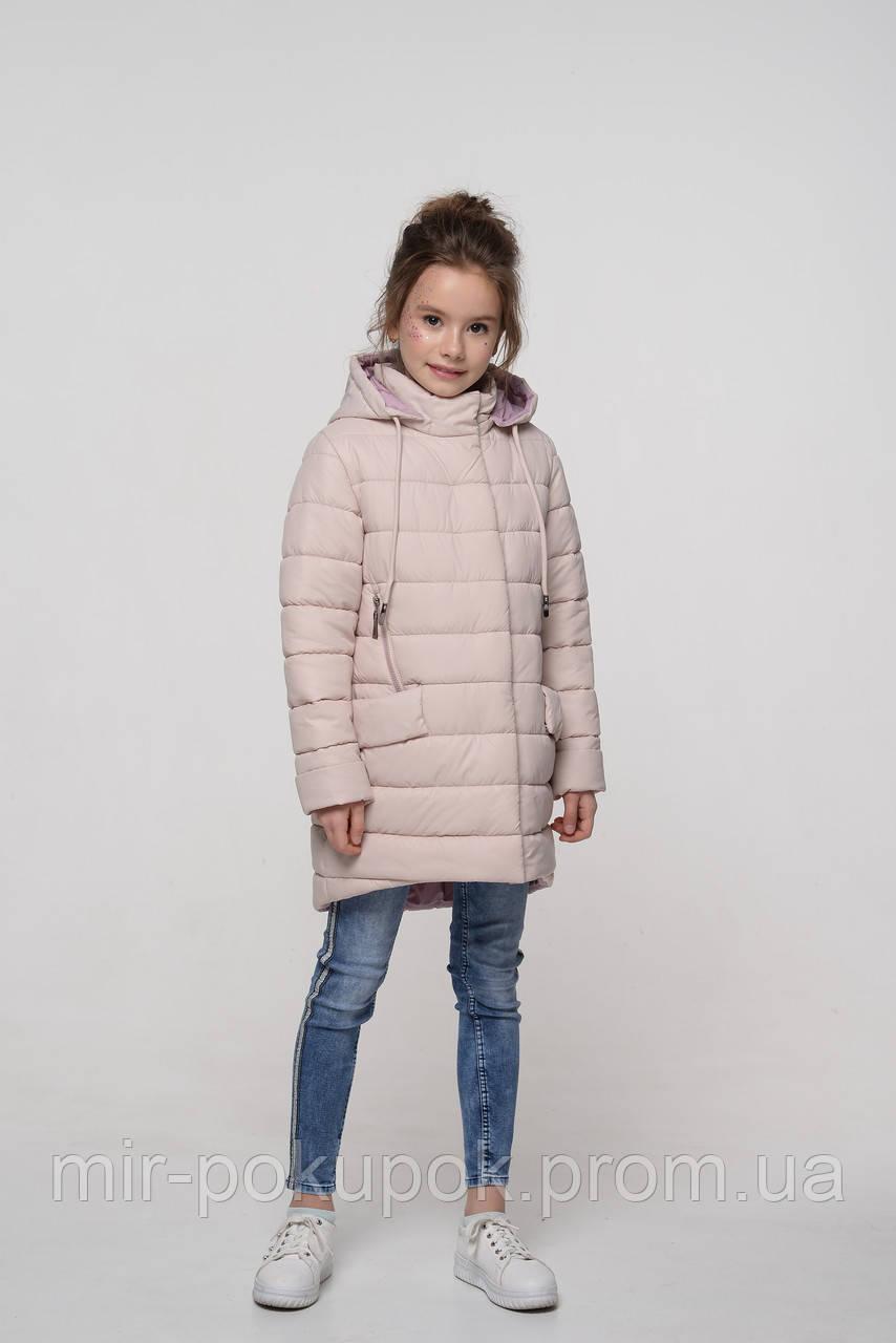 Детская демисезонная куртка для девочки Натти крем, фото 1