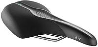 Седло Selle Royal SCIENTIA R2 Relaxed, 3D skingel, обивка Black gummy/Black mokka, 289х196мм, 485г, рейлы сталь + Curva suspension, unisex, чёрное