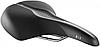 Седло Selle Royal SCIENTIA R3 Relaxed, 3D skingel, обивка Black gummy/Black mokka, 289х224мм, 520г, рейлы сталь + Curva suspension, unisex, чёрное