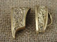 Набор гарда и тыльник для ножа из бронзы № 11, фото 1