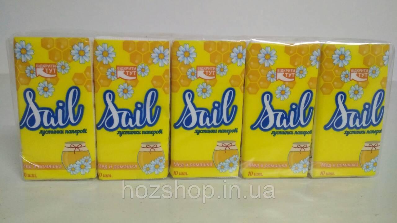 Бумажный  носовой платок   (Мёд & Ромашка) Одесса (10 шт)