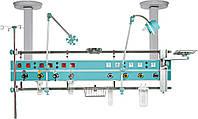 Горизонтальный реанимационный модуль — рейка из нержавеющей стали, подвесного типа