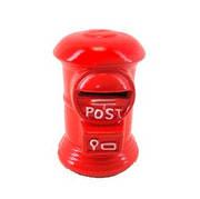 Копилка керамическая, Почта, 9 см, красный