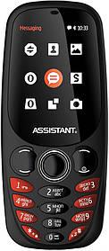 Мобильный телефон Assistant AS-201 Black Гарантия 12 месяцев