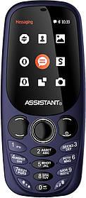 Мобильный телефон Assistant AS-201 Blue Гарантия 12 месяцев