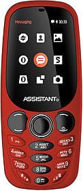 Мобильный телефон Assistant AS-201 Red Гарантия 12 месяцев