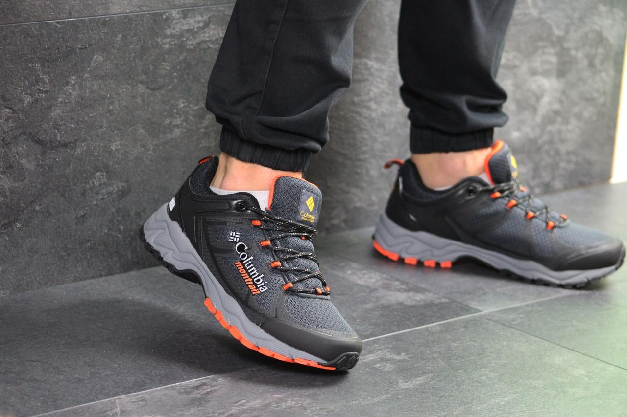 Мужские кроссовки Columbia Montrail (серо-оранжевые)