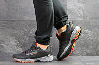 Кроссовки мужские Columbia Montrail в стиле Коламбиа Монтреил, сетка, текстиль код SD-7353. Серые с оранжевым