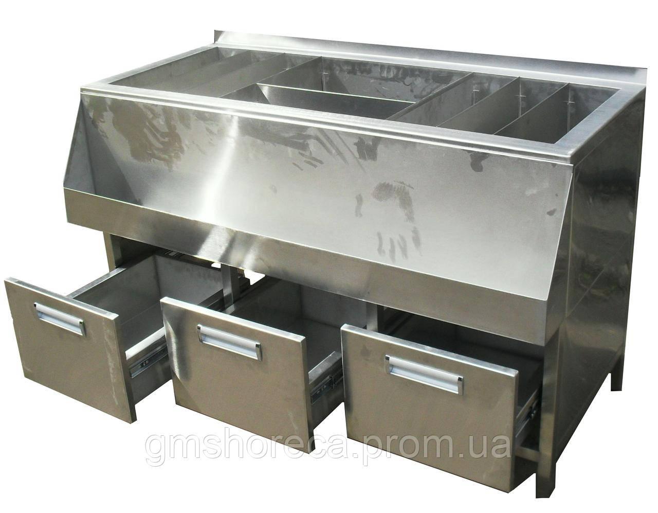 Барная станция без ванны с выдвижными ящиками