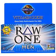 Garden of Life,  Raw Сырые поливитамины для мужчин, 75 капсул