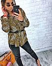 Притованная женская блуза леопардовая из софта 3ru212, фото 2