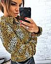 Притованная женская блуза леопардовая из софта 3ru212, фото 3