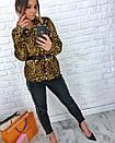 Притованная женская блуза леопардовая из софта 3ru212, фото 6