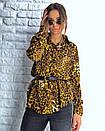 Притованная женская блуза леопардовая из софта 3ru212, фото 7