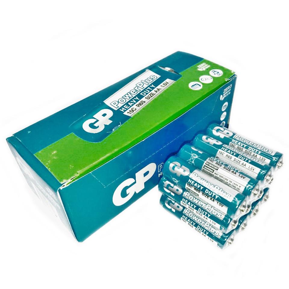 Батарейки солевые GP Power Pluss АА пальчиковые, R 06, упаковка — 40 шт