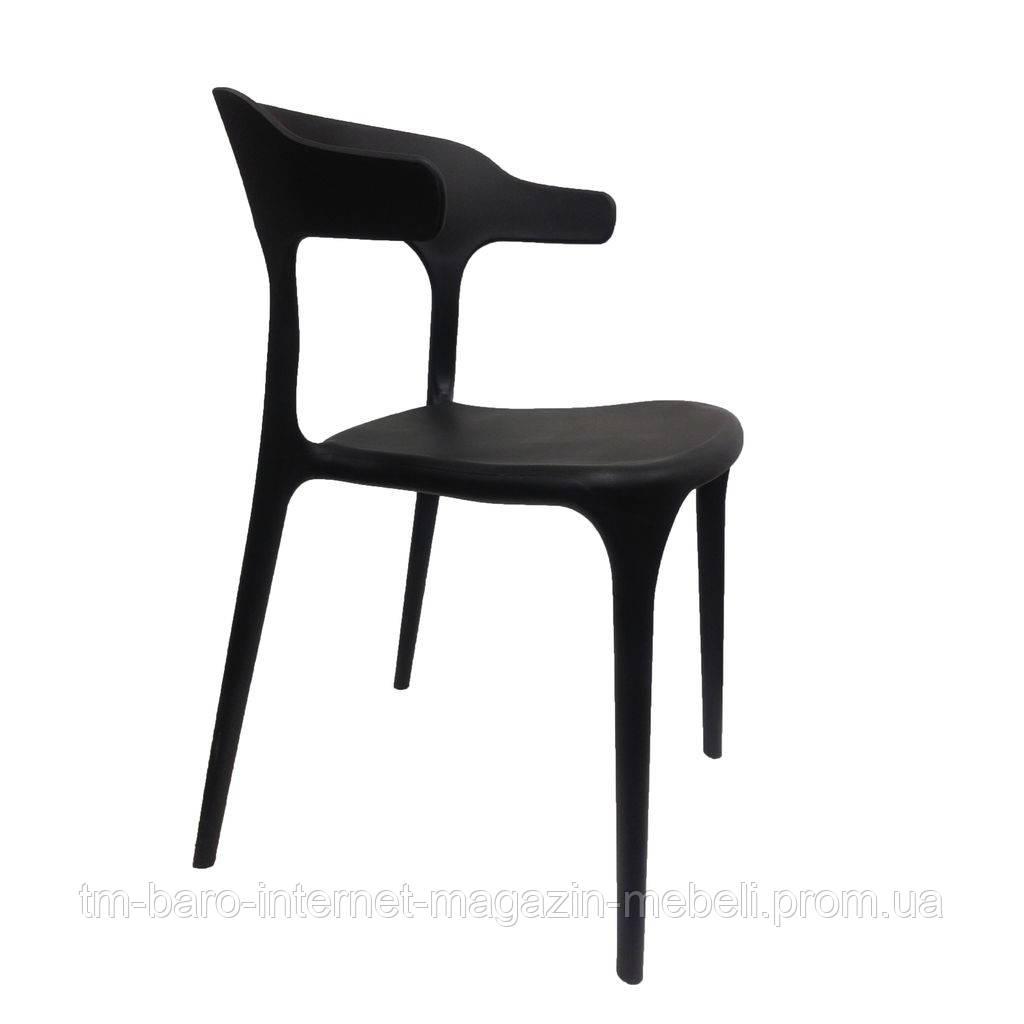 Стул пластиковый Lucky (Лакки) черный, Concepto