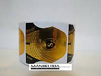Формы Salon SP-0405 золото широкие с черными ушками 500 шт