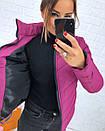 Плащевая стеганная женская куртка на молнии короткая 3kr192, фото 4