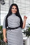 Женское платье травка в полоску (2расцв) от 42 до 56р, фото 2
