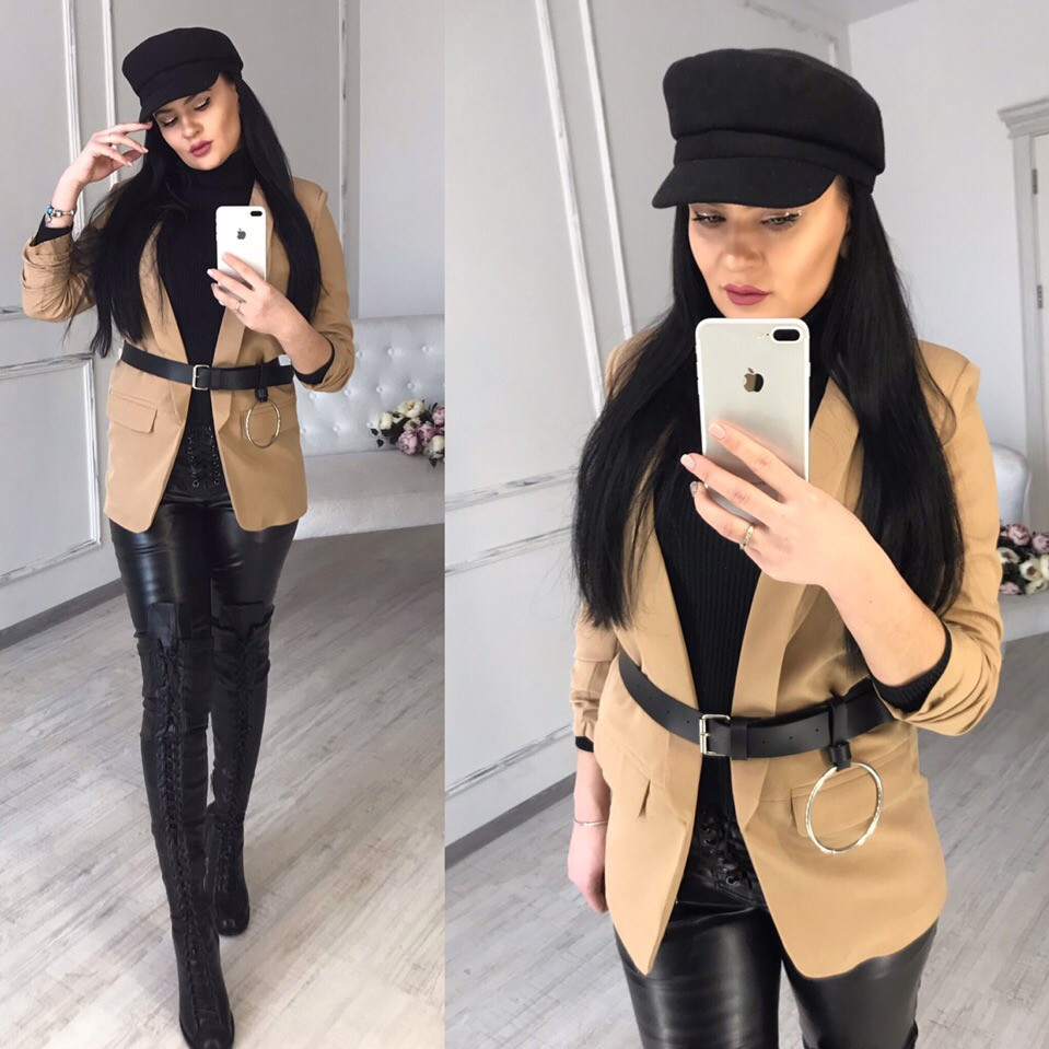 Женский кардиган на запах с рукавом 3/4 58pk170