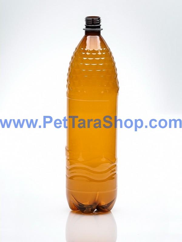 Пластиковая Бутылка Коричневая 1,5л с крышкой