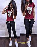 Женский стильный костюм: футболка и капри в расцветках (расцветки), фото 2