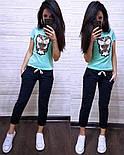 Женский стильный костюм: футболка и капри в расцветках (расцветки), фото 3