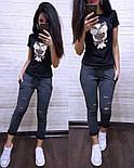 Женский стильный костюм: футболка и капри в расцветках (расцветки), фото 4