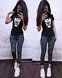 Женский стильный костюм: футболка и капри в расцветках (расцветки), фото 5