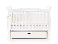 Детская кроватка Верес Соня ЛД15 белый (маятник+ящик)