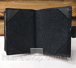 Мужской кошелек, портмоне из натуральной кожи, с отделом под паспорт, 9 отделений для карт, фото 3
