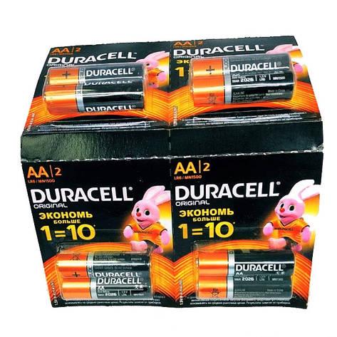 Батарейки Duraсell АА пальчиковые, R 06, отрывной лист  — 12 шт, фото 2