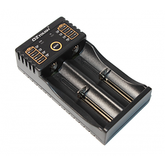 Зарядное устройство универсальное OZtough, 2 канала, LED инд., поддерживает Li-ion, Ni-MH и Ni-Cd AA (R6), ААA (R03), AAAA, С (R14) (OZtough)